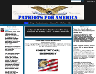 patriotsforamerica.ning.com screenshot