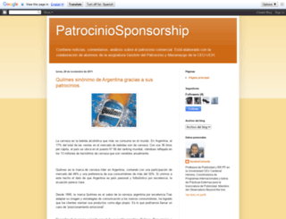 patrociniosponsorship.blogspot.com screenshot