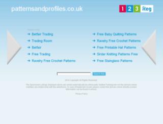patternsandprofiles.co.uk screenshot