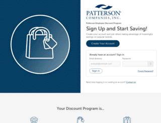pattersoncompanies.perkspot.com screenshot