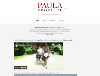 paulafroelich.com screenshot