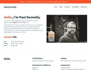 pauldonnelly.net screenshot
