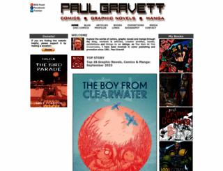 paulgravett.com screenshot
