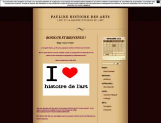 paulinehistoiredesarts.unblog.fr screenshot