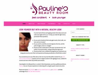paulinesbeautyroom.co.uk screenshot