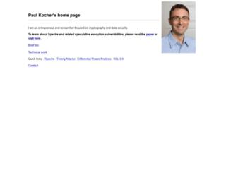 paulkocher.com screenshot