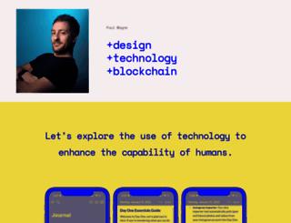 paulmayne.org screenshot