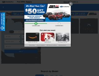paulmillersubaru.com screenshot