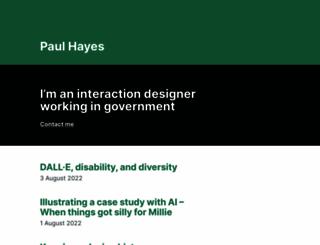 paulrhayes.com screenshot