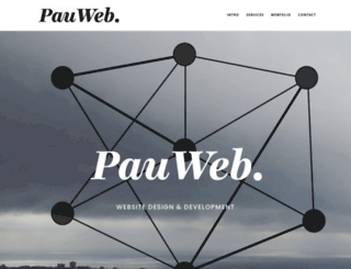 pauweb.co.uk screenshot
