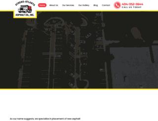 pavingatlanta.com screenshot