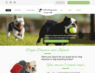 pawsplaygrounds.com screenshot