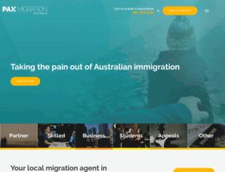 paxmigration.com.au screenshot