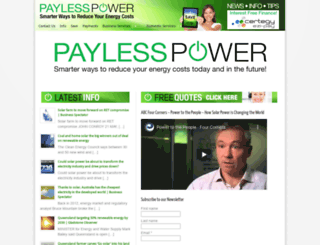paylesspower.com.au screenshot