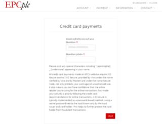 payment.epcplc.com screenshot