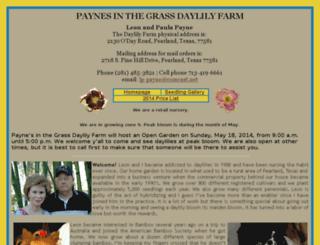 paynesinthegrassdaylilyfarm.com screenshot