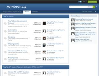 paypaldev.org screenshot