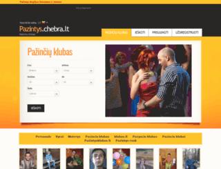 pazintys.chebra.lt screenshot