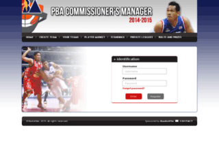 pbamanager.basketme.net screenshot