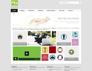 pbasolutions.com screenshot