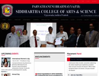 pbsiddhartha.ac.in screenshot