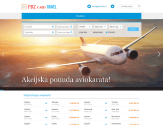 pbzcard-travel.hr screenshot