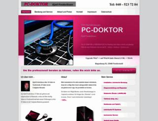 pc-doktor-frederiksen.de screenshot