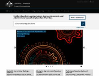 pc.gov.au screenshot