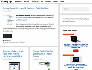 pcdailytips.com screenshot
