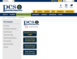 pcsb.instructure.com screenshot