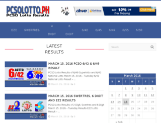 pcsolotto.ph screenshot