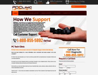 pctechclinic.ca screenshot