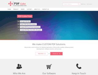 pdfcube.com screenshot