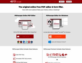 pdfescape.com screenshot