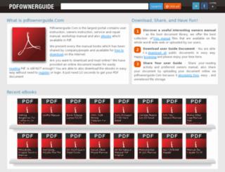 pdfownerguide.com screenshot