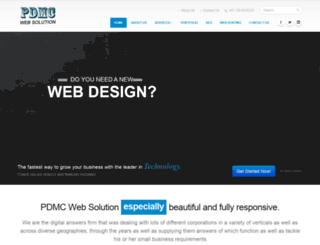 pdmcwebsolution.in screenshot