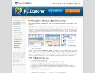 pe-explorer.com screenshot