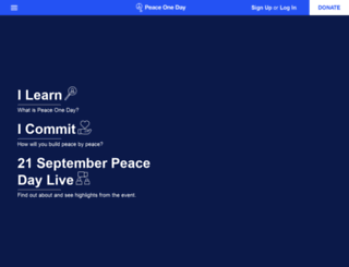 peaceoneday.org screenshot