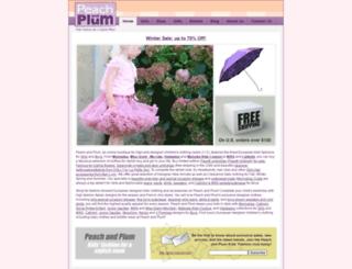 peachandplum.com screenshot