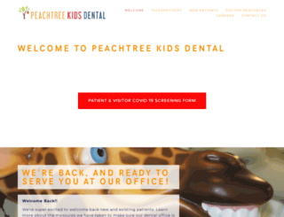 peachkidsdental.com screenshot