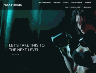 peakfitness.com.my screenshot