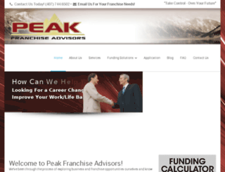 peakfranchise.com screenshot