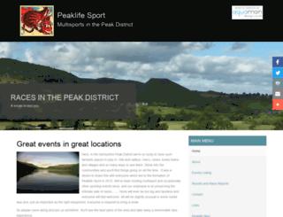 peaklifesport.co.uk screenshot