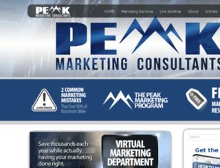 peakmarketingconsultants.com screenshot