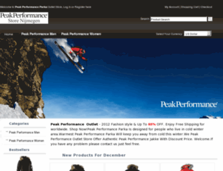 peakperformanceparka.com screenshot