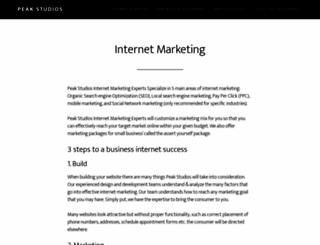 peakstudios.com screenshot