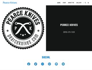 pearceknives.com screenshot