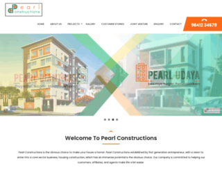 pearlconstructions.com screenshot