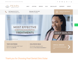 pearldentalclinic.ae screenshot
