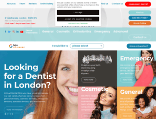 pearldentalclinic.co.uk screenshot